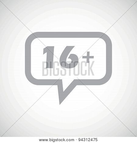 Age restriction grey message icon