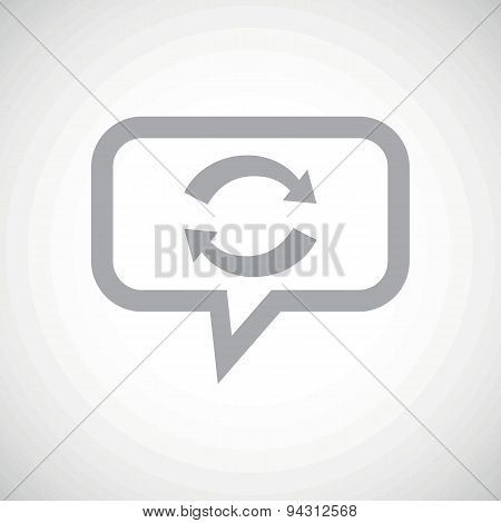 Exchange grey message icon