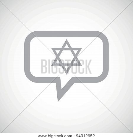 Star of David grey message