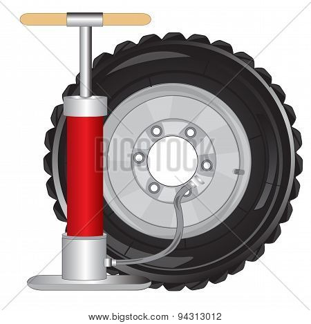 Wheel of the car and pump
