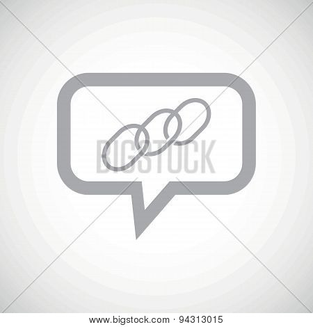 Chain grey message icon