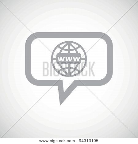 Global network grey message icon