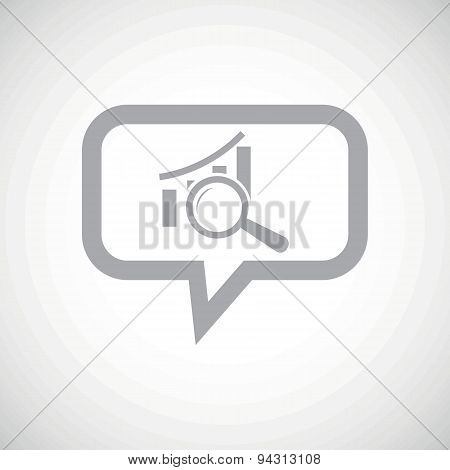 Graphic examination grey message icon