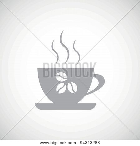 Grey coffee icon