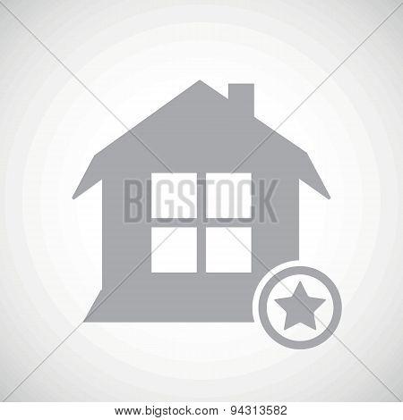 Grey favorite house icon