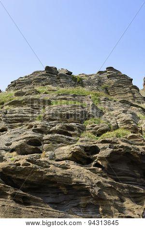 Strange Rocks At Yoengmeri Beach In Jeju