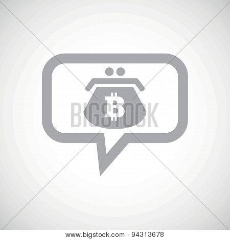 Bitcoin purse grey message icon