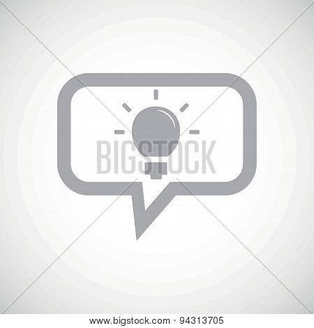 Light bulb grey message icon
