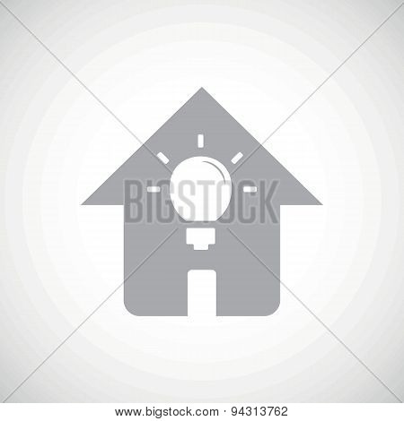 Grey house light icon