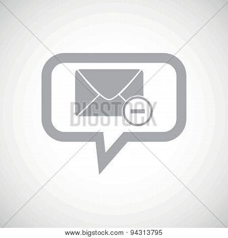 Remove letter grey message icon