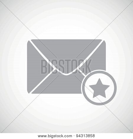 Grey favorite letter icon