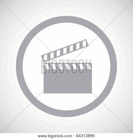 Grey clapperboard sign icon