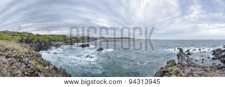 Panorama Of Hahyo Port In Jeju Island.