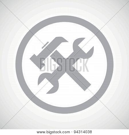 Grey repairs sign icon