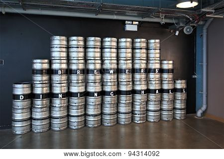 Barrels of beer in Guinness Storehouse
