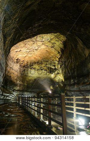 Manjanggul Cave In Jeju Island