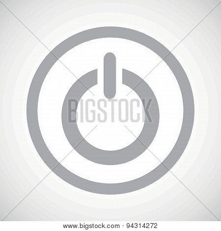 Grey power sign icon