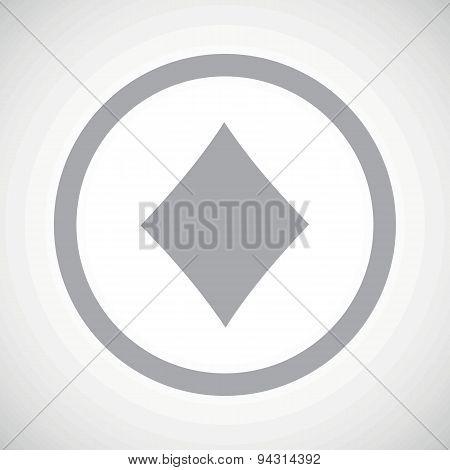 Grey diamonds sign icon