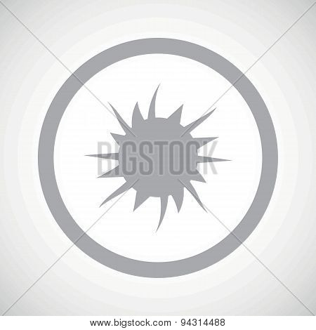 Grey starburst sign icon