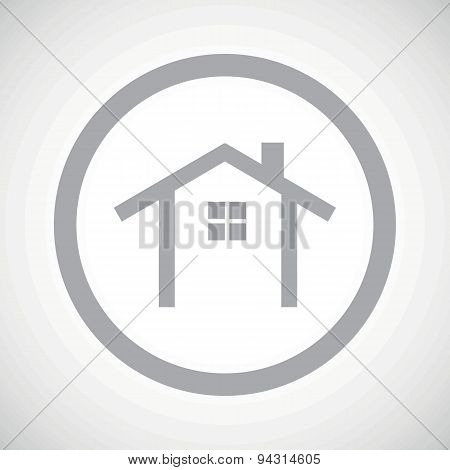 Grey cottage sign icon