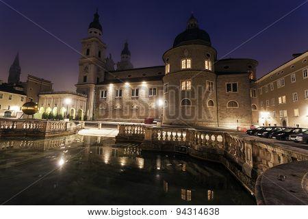 Salzburg Cathedral At Sunrise