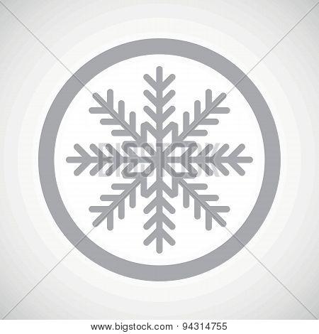Grey winter sign icon