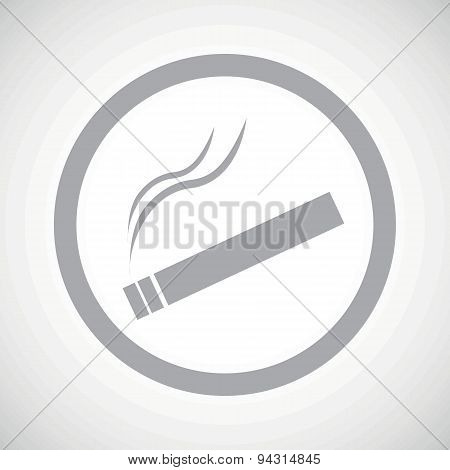Grey smoking sign icon