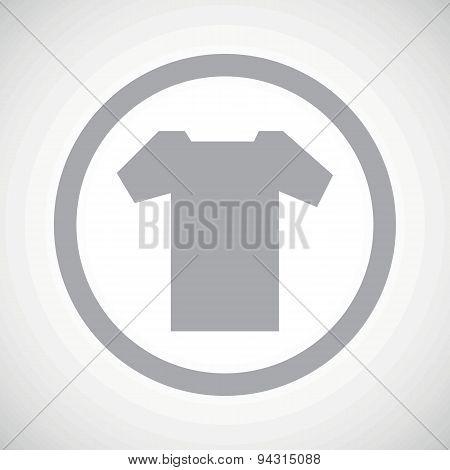 Grey T-shirt sign icon