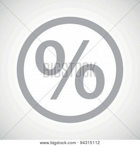Grey percent sign icon