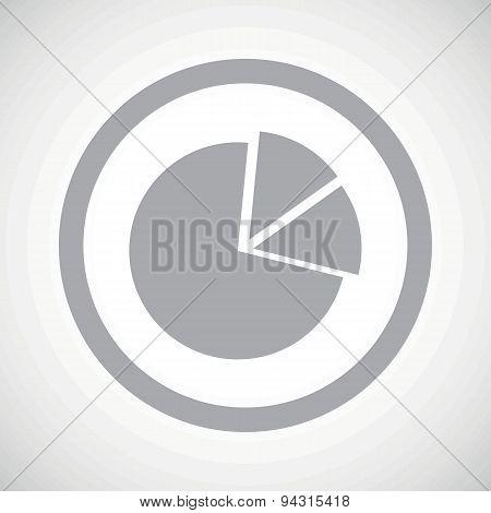 Grey diagram sign icon