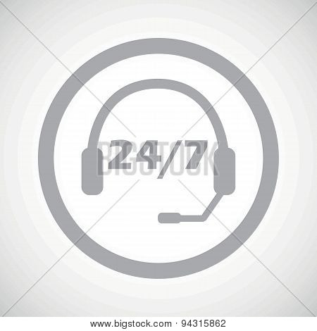 Grey support sign icon