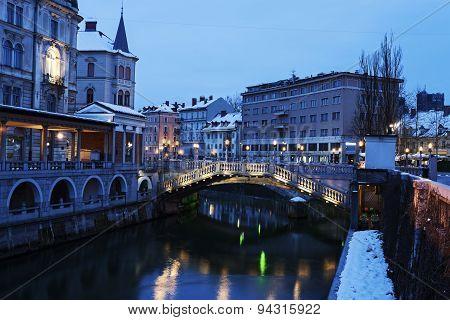 Architecture Along Ljubljanica River