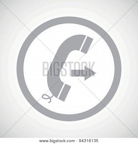 Grey outgoing call sign icon