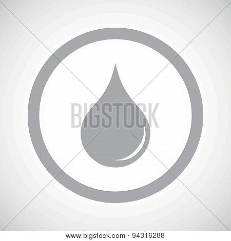 Grey water drop sign icon