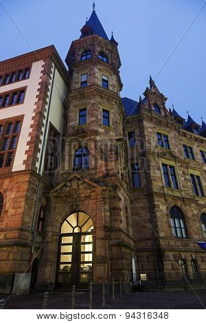 Rathaus Building At Sunrise