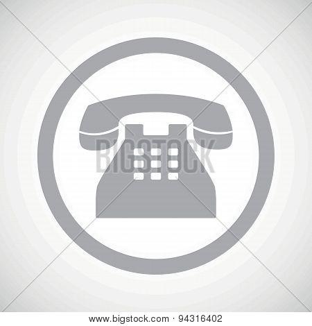 Grey phone sign icon