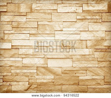 Stone Wall Made With Blocks