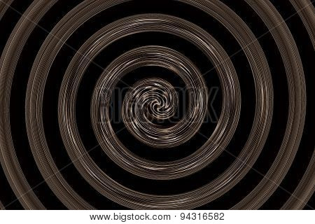 Abstract Spiral Black And Brown