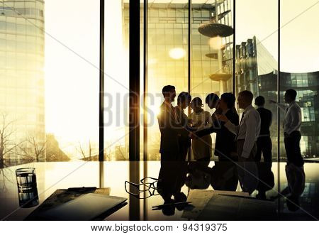 Business People Corporate Discussion Meeting Team Concept