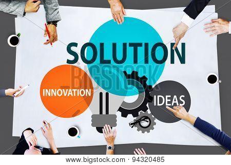 Solution Strategy Ideas Innovation Creativity Concept