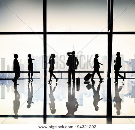 Businessman Confusion City Office Concept