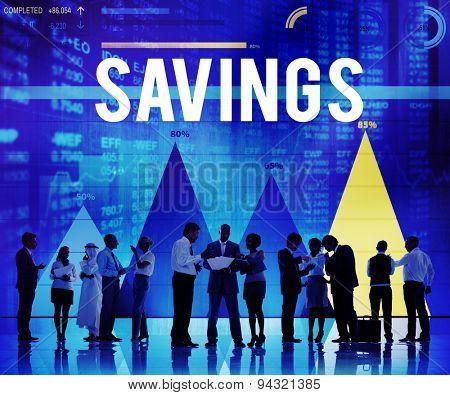Savings Save Accounting Banking Money Finance Concept