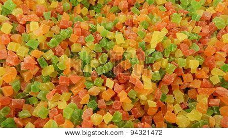 Glase fruit background