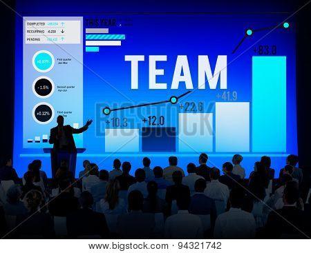 Team Teamwork Corporate Data Analysis Concept