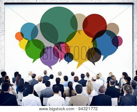 Business People Meeting Presentation Communication Concept