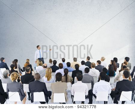Business People Seminar Conference Meeting Presentation Concept