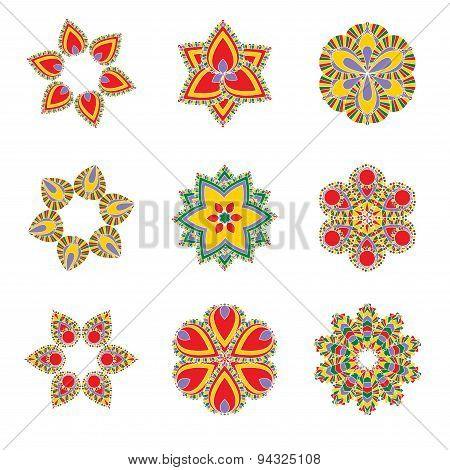 Vector Ethnic Culture Ornaments, Can Be Used As Background For Textile, Yoga Mates, Walls Etc.