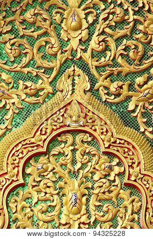 Gable  Detail Wat Muen Lan Chiangmai Asia