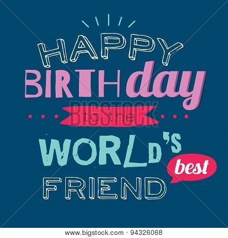 Happy Birthday card to friend