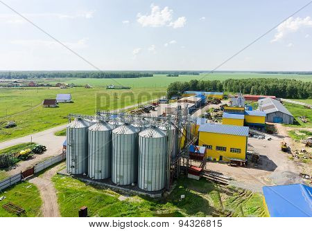 Machine yard of modern agricultural firm. Tyumen